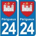 Autocollant Périgueux immatriculation 24