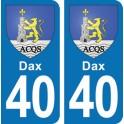 Autocollant Dax immatriculation 40