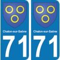 Autocollant Chalon sur Saône immatriculation 71