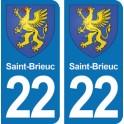 Autocollant Saint-Brieuc immatriculation 22