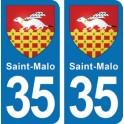 Autocollant Saint-Malo immatriculation 35