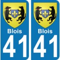 Autocollant Blois immatriculation 41