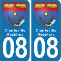 Autocollant Charleville-Mézières immatriculation 08