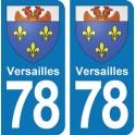 Autocollant Versailles immatriculation 78