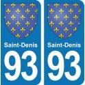 Autocollant Saint-Denis immatriculation 93