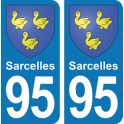 Autocollant Sarcelles immatriculation 95