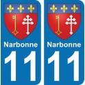Autocollant Narbonne immatriculation 11