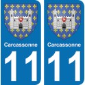 Autocollant Carcassonne immatriculation 11