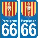 Autocollant Perpignan immatriculation 66