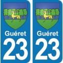 Autocollant Guéret immatriculation 23