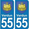 Autocollant Verdun immatriculation 55
