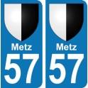 Autocollant Metz immatriculation 57