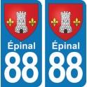 Autocollant Épinal immatriculation 88