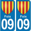 Autocollant Foix immatriculation 09