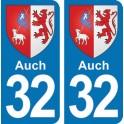 Autocollant Auch immatriculation 32