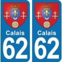 Autocollant Calais immatriculation 62