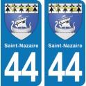 Autocollant Saint-Nazaire immatriculation 44
