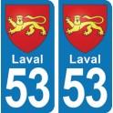 Autocollant Laval immatriculation 53