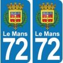 Autocollant Le Mans immatriculation 72