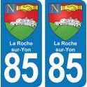 Autocollant La Roche sur Yon immatriculation 85