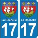 Autocollant La Rochelle immatriculation 17