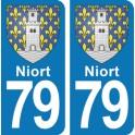 Autocollant Niort immatriculation 79