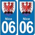 Autocollant Nice immatriculation 06