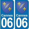 Autocollant Cannes immatriculation 06