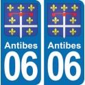 Autocollant Antibes immatriculation 06