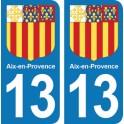Autocollant Aix-en-Provence immatriculation 13