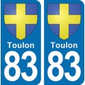 Autocollant Toulon immatriculation 83