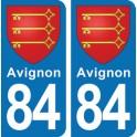 Autocollant Avignon immatriculation 84