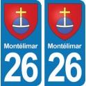 Autocollant Montélimar immatriculation 26
