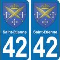 Autocollant Saint-Etienne immatriculation 42