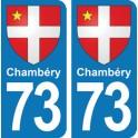 Autocollant Chambéry immatriculation 73
