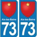 Autocollant Aix-les-Bains immatriculation 73