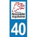 Autocollant Moto Département 40 des Landes Nouvelle Aquitaine