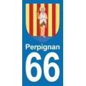 Autocollant Moto Perpignan Immatriculation 66