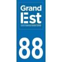 Autocollant Moto Département 88 des Vosges nouvelle région Grand Est