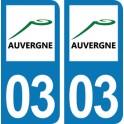 Autocollant Département 03 - Allier
