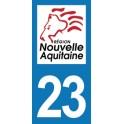 Autocollant Moto Département 23 de la Creuse Nouvelle Aquitaine