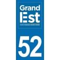 Autocollant Moto Département 52 de la Haute Marne nouvelle région Grand Est