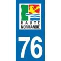 Autocollant Moto Département 76 de la Seine-Maritime