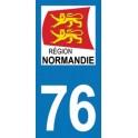 Autocollant Moto Département 76 de la Seine Maritime nouvelle région Normandie