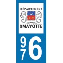 Autocollant Moto Mayotte immatriculation 976