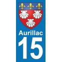 Autocollant Moto Aurillac Immatriculation 15